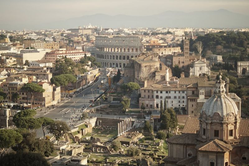 Colloseum In Rome Rom Ancient Civilization Architecture Building Exterior Built Structure City Cityscape Colloseum Day History No People Outdoors Place Of Worship Sky Travel Destinations Tree EyeEmNewHere