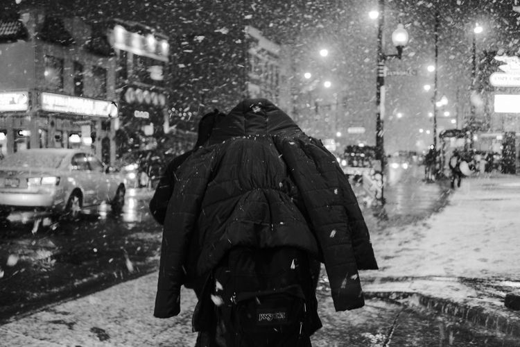 The Week On EyeEm EyeEm Best Shots Weather Rear View Night Street Winter Storm Snowing Cold Temperature Extreme Weather