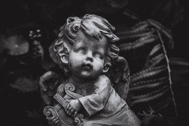 Close-up portrait of a statue