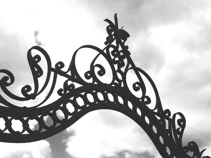 Sky Low Angle View Cloud - Sky Metal Architecture Nature No People Gate Wrought Iron Ornate