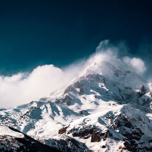 Snowy mountains Nature Landscape Nature_collection Mountain Photography Nikonphotography Landscape No People Sea Outdoors Nature Beauty In Nature Day Mountain Wave Sky