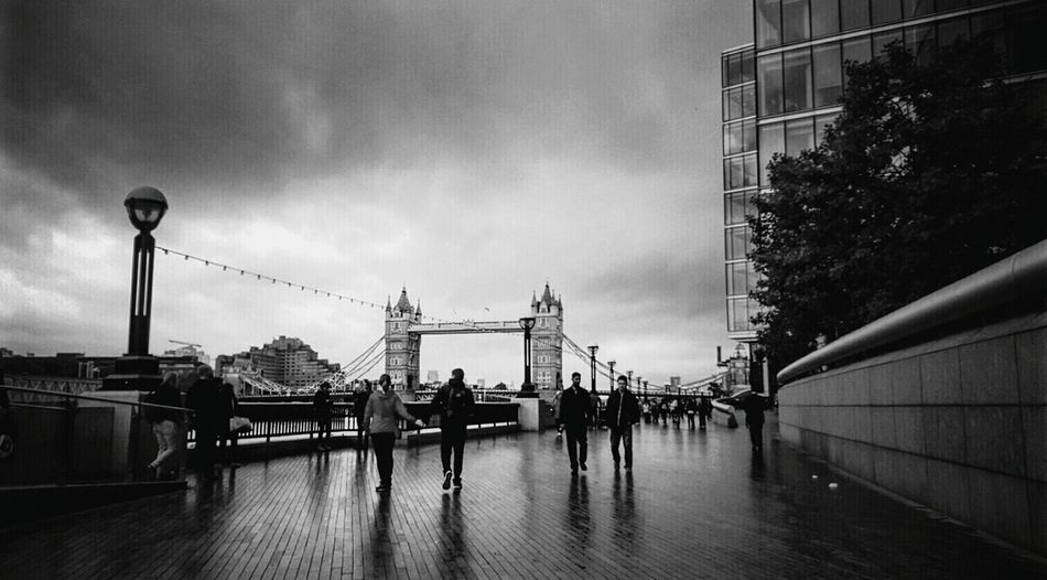B&w Street Photography Tower Bridge  London Life