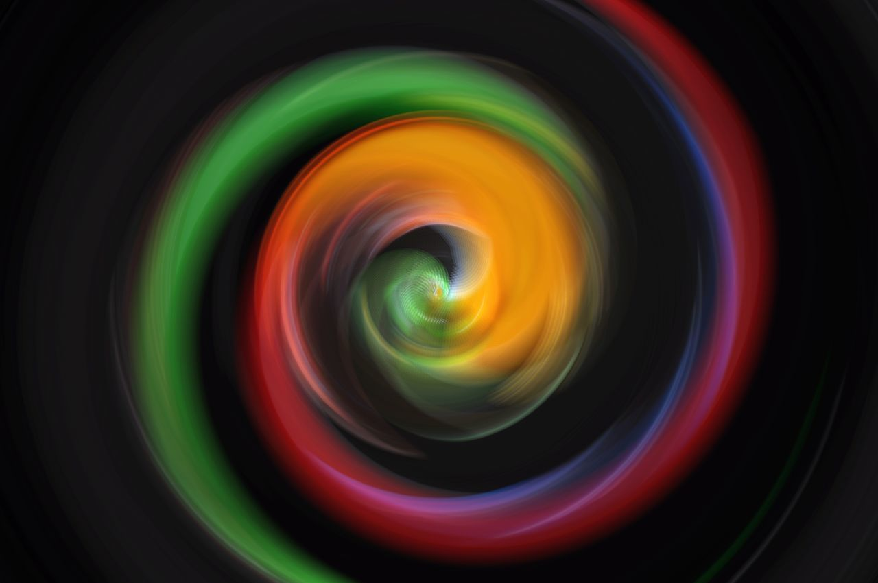 multi colored, no people, close-up, geometric shape, circle, indoors, shape, pattern, illuminated, technology, photographic equipment, abstract, motion, camera - photographic equipment, camera, design, photography themes, full frame, directly above, backgrounds, digital camera