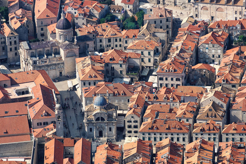 Old Town Center, Dubrovnik, Croatia Building Exterior Architecture Built Structure Residential District Building Roof Crowded City Crowd Day High Angle View House Full Frame Town Cityscape Roof Tile TOWNSCAPE Settlement Old Old Town Old Buildings Heritage Heritage Building Dubrovnik Croatia