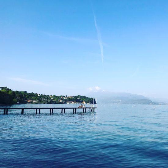 Bella Italia Italy Lago Di Garda Water Sky Beauty In Nature Waterfront Scenics - Nature Nautical Vessel Nature Sea Day Blue Tranquility Tranquil Scene