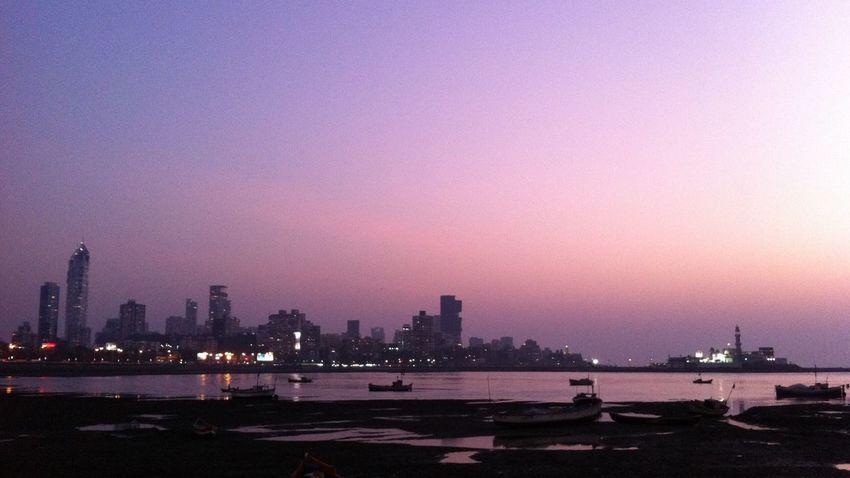 Mumbai Hajiali Sunset Nature Skyline Reflection