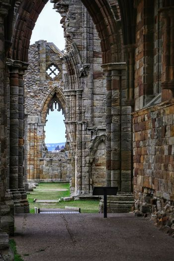 Whitby Whitby Whitby Abbey Architecture Built Structure Arch History The Past Building Day Building Exterior Old Religion Travel Destinations No People Place Of Worship Old Ruin Wall Belief Abandoned Spirituality Nature Ancient Outdoors Brick Abbey Architectural Column Ruined
