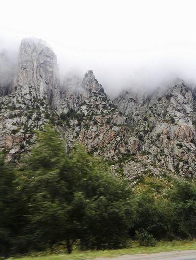 elbrus EyeEm Selects Mountain Mountains Sky Nature Profi Rock Cliff Stones Russia Fog Mood Car Blur Blurred Motion Motion