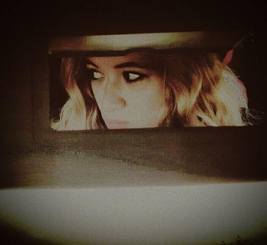 Retro Mirror Car Bonnie&Clyde Blonde Photography Me Model Amazing Woman