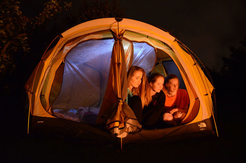 Camping Out Firelight Glow