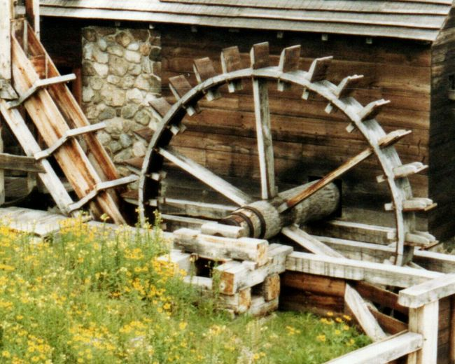 Grist Mill Mill Historical Building Historic Old Watermill  Watermill New England  Wood - Material No People Old-fashioned Water Wheel Outdoors Wheel Close-up