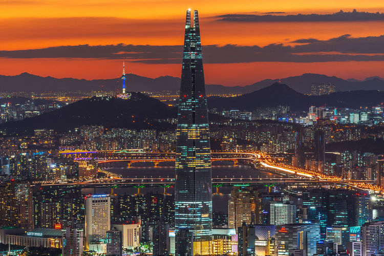 Seoul City Night Landscape Nightview Nightscape Sony A7R