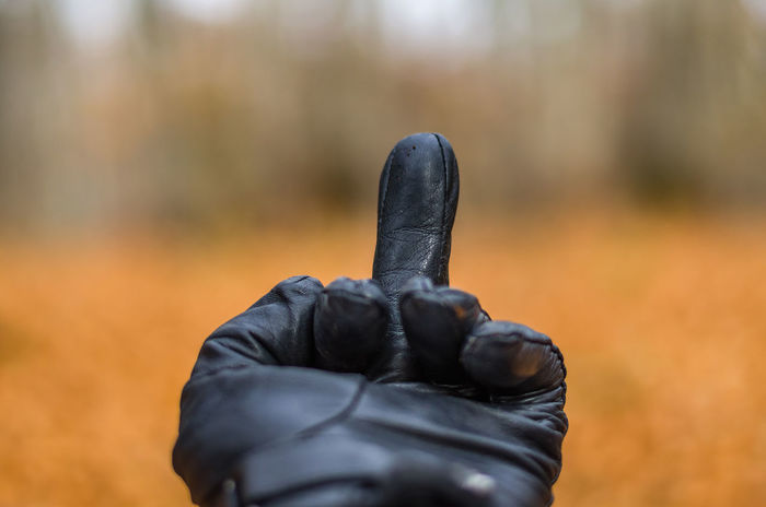 Exploring the small mountain town of Krushevo in Macedonia Leather Autumn Black Color Close-up Day Finger Focus On Foreground Gloves Leather Gloves Nature One Person Outdoors Real People