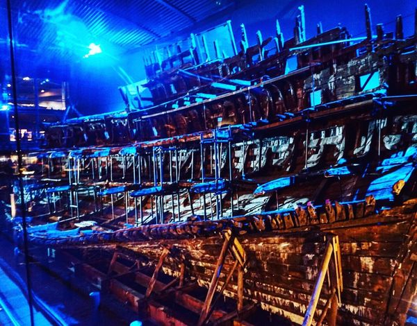 The Mary Rose Blue Large Group Of Objects Abundance Full Frame Electric Light Outdoors Arranged No People Order Arrangement Portsmouth Historic Dockyard Portsmouth MaryRoseMuseum Henry VIII