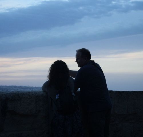 """""""In love with you"""" Togetherness Love Sky Bonding Real People Men Family With One Child Leisure Activity Sunset Family Cloud - Sky Nature Father Lifestyles Embracing Standing Women Outdoors Scenics Beauty In Nature Love Photgraphy Malta Tramonto Fotografia -CM"""