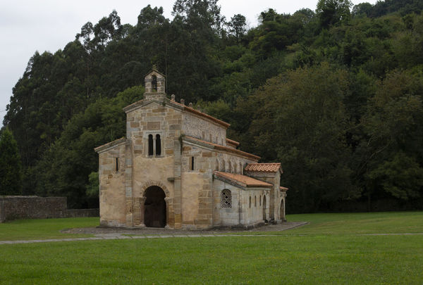 Church of the Holy Savior of Valdediós Tree Architecture No People Religion Place Of Worship Day Spirituality Outdoors Building Exterior Asturias SPAIN Summer Cloudy Travel Horizontal Forest Nature Village Pre-romanesque Medieval 9th Century