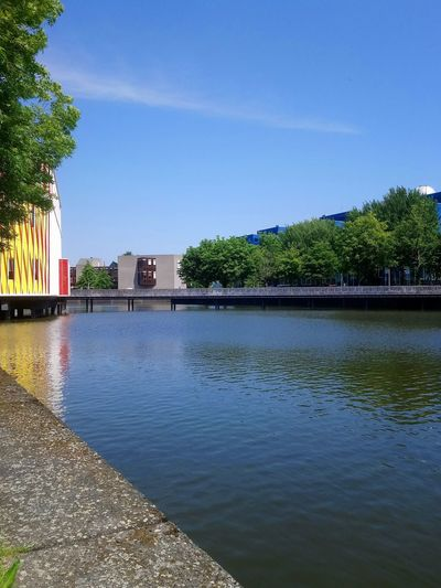 Groningen Blue Sky Trees Urban Skyline Water Tree Clear Sky Politics And Government Blue Reflection Summer Sky Architecture Building Exterior Museum Lakeside Dome Destinations Lake