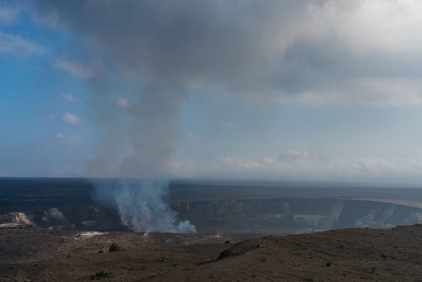Volcano Crater Mountain Kilauea Smoky Mountains Lava Hawaii Big Island Vacations