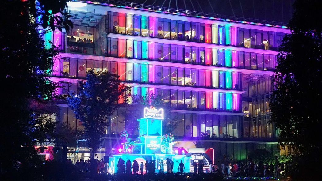 11.11 with alibaba Night Illuminated Multi Colored Nightlife City Architecture Building Exterior Outdoors No People