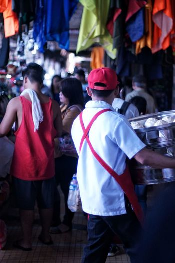 Large Group Of People Crowd Men Real People Street Street Photography Quiapo Manila, Philippines Food