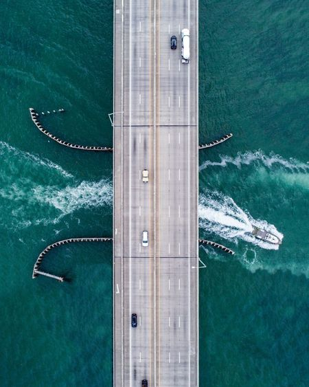 EyeEm Gallery EyeEm EyeEm Selects Dronephotography Drone  Transportation Nautical Vessel Water Mode Of Transportation Sea High Angle View Travel Aerial View Flying Architecture