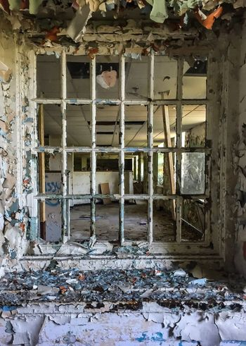 Abandoned Destruction Damaged Indoors  Window No People Hospital Desolate Day Paint Decay Paint Psychiatry Psychiatric Hospital