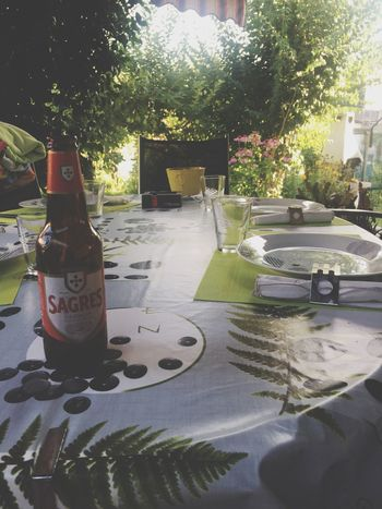 Dinner time 🏡 Bottle Table Tree Day No People Food And Drink Sunlight Plate Drink Outdoors Place Setting Water Food Nature Close-up Moments Relaxation Life NOstress Happy Lifestyles EyeEm Selects Sommergefühle EyeEmNewHere Let's Go. Together.