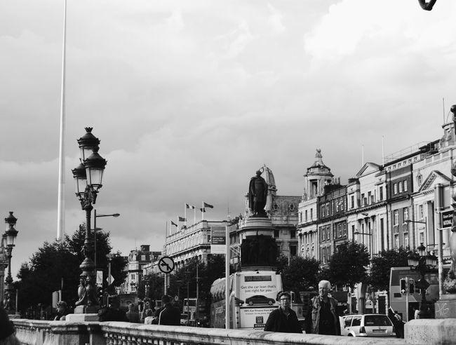 My Favorite Place Trip Blackandwhite Photography Traveling Dublin Ireland Bridge People