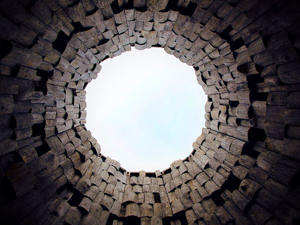 Architecture Built Structure Sky Installation Art Russia No People Hole In The Sky Sky And Clouds Wood Statue