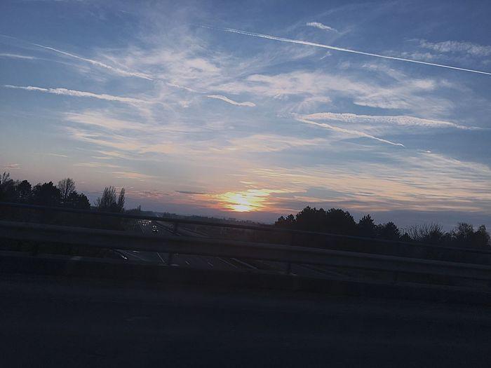 The Drive Sunset Sky No People Cloud - Sky Tree