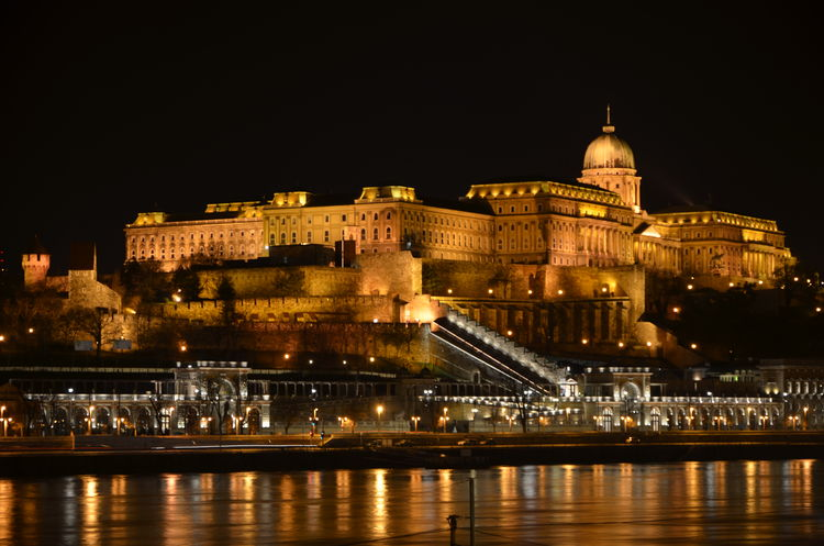 Budapest Castle Capital Cities  Capital City City Life Cityscape Danube Danube River Famous Place History Night Outdoors Tourism Várkert