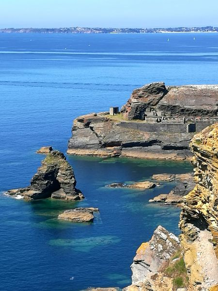 Holiday Moments Sea Beach Water Cliff Rock - Object Old Ruin Blue Sky Horizon Over Water Landscape
