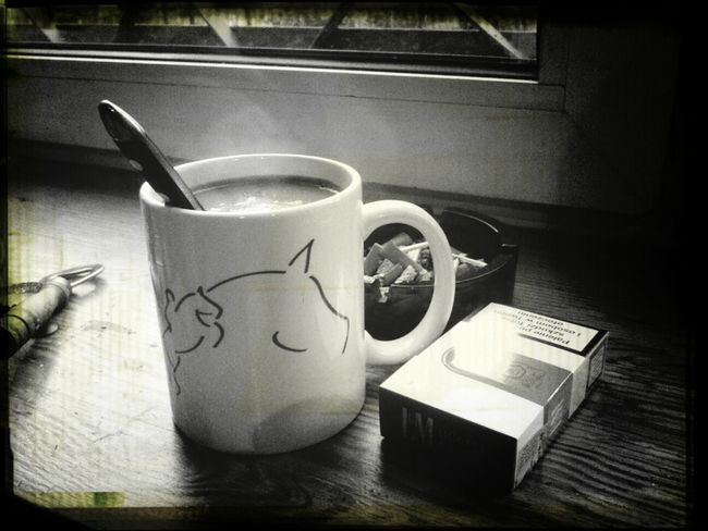 Morning Coffe Cigarettes Wake Up New Day Rising