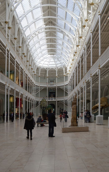 Adult Adults Only Architecture Ceiling Day Gallery Indoors  Men Modern Museum Museum Gallery National Museum Of Scotland People Real People Victorian Women