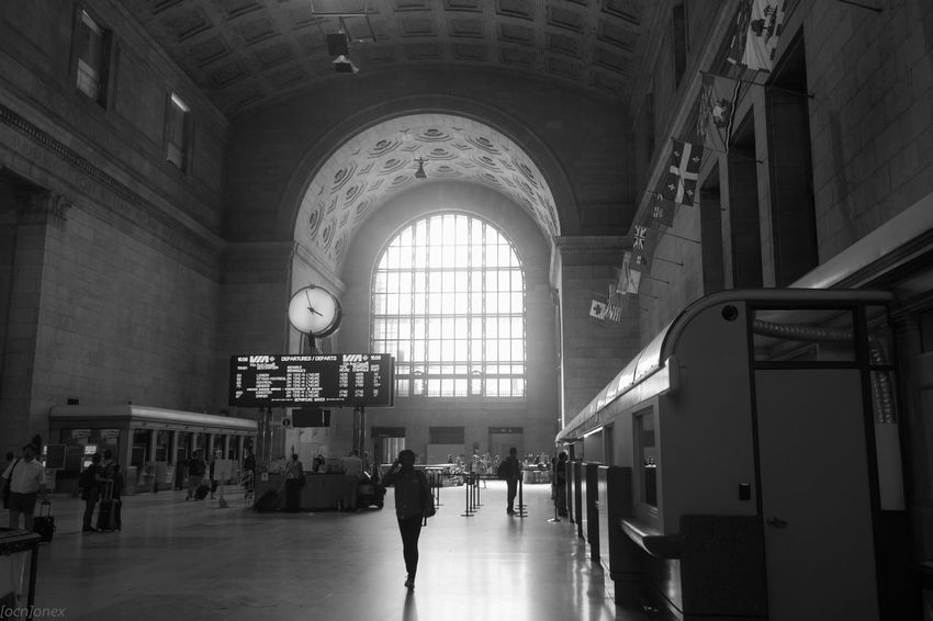 Union station a little lull in the activity. Toronto 6ix Canada Streetphoto Streetphotography B&w Street Photography Ontario Canon T3i HUMANITY Train Station Empty