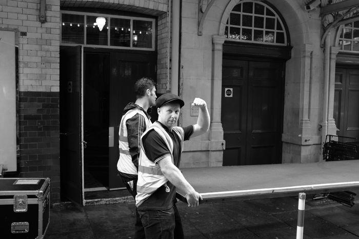 London We Can Do It Blackandwhite Photography Blackandwhite Black & White Black And White Streetphotography Fujifilm People People Photography People Watching London Lifestyle