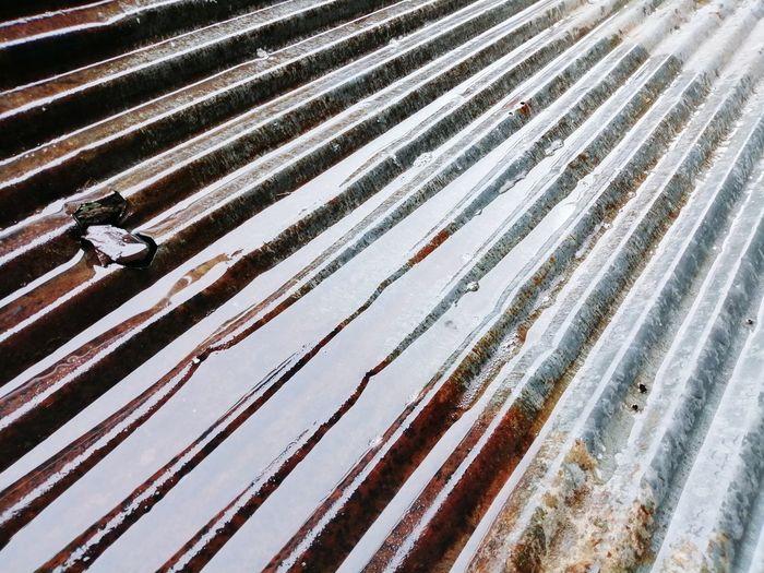 Full frame shot of wet roof