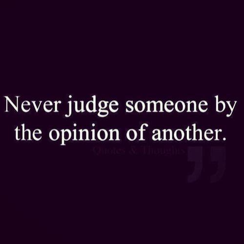 Judgemental ?