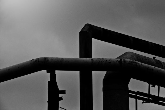 Batory Steelworks / Huta Batory, Chorzów, Poland Architecture Black And White Building Built Structure Clear Sky Construction Day Geometry Geometry Shapes Industrial Industry Ironwork  Pipe Pipe - Tube Pipeline Shape Shapes Steelwork Structure The Architect - 2018 EyeEm Awards The Creative - 2018 EyeEm Awards