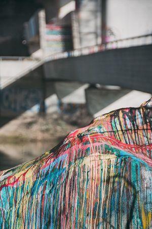 Urban Colors Bridge Rock Paint Streetart Switzerland