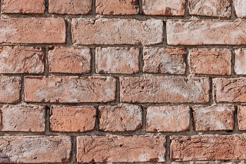 Backgrounds Textured  Brick Wall Brick Full Frame Wall Wall - Building Feature Pattern Architecture Built Structure No People Old Weathered Rough Red Construction Material Brown Outdoors Close-up Rectangle Cement Concrete Ruined