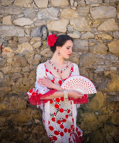 Andalucía Flamenco Spanish Woman Adult Adults Only Beautiful Woman Beauty Day Fashion Flower Fragility Human Body Part Human Hand Human Lips Mid Adult Nature One Person One Woman Only One Young Woman Only Only Women Outdoors People Red Standing Women Young Adult Young Women