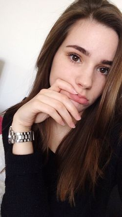Young Adult EyeEmpics French Girl Snapchat Goodday Faces Of EyeEm Looking At Camera