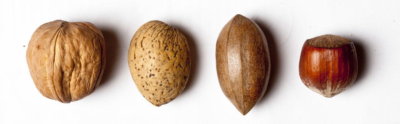 Almond Tree Close-up Cut Out Food Hazelnut Healthy Eating No People Nut Nuts Paranut Studio Shot Walnut White Background