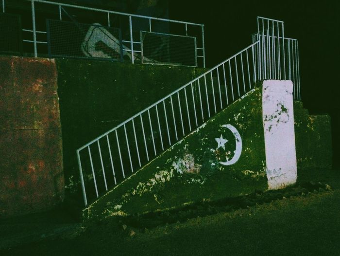 Railing Steps Steps And Staircases Weathered Pakistan Flag Night