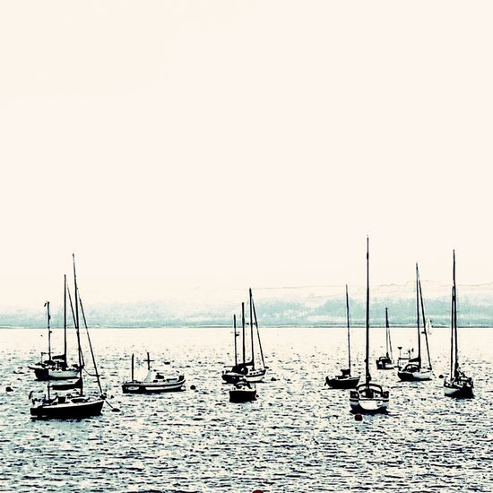 Sea Horizon Over Water Water Nautical Vessel Tranquility No People Travel Destinations Silhouette