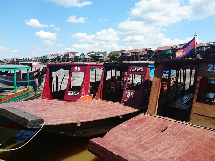Sky Travel Destinations Cloud - Sky City No People Outdoors Day Boat Boats Landscape Cambodia Water Horizon Over Water Vacations