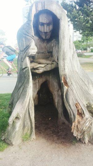 Carved Wood , Treeman , Treeart