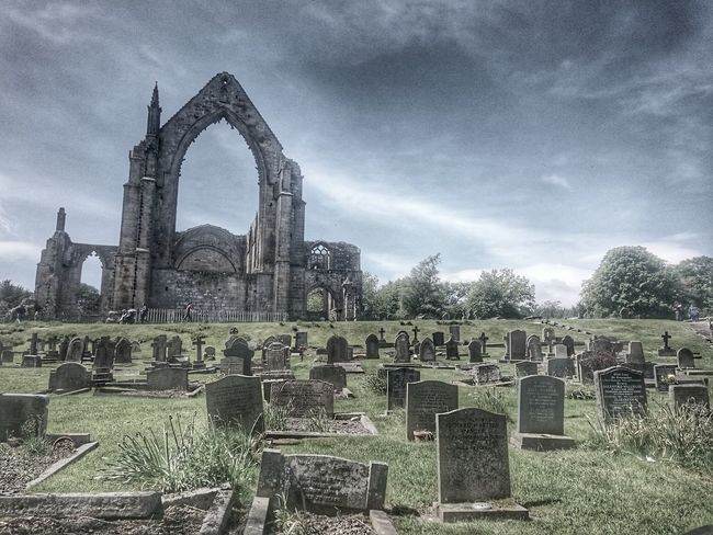 Abbey Ruins Travel Destinations Famous Place Cemetery Death Sky Architecture History Arch Cloud - Sky Bolton Abbey
