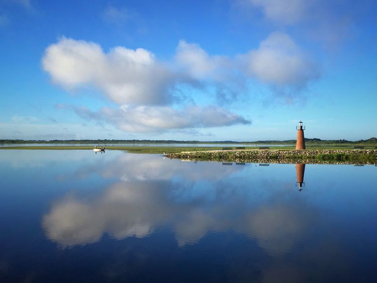 Reflect X-t2 Fujifilm Fujifilm_xseries Lighthouse Florida Kissimmee EyeEm Best Shots Landscape_Collection EyeEm Nature Lover Water Reflections Sky Reflection Cloud - Sky Water Tranquility Tranquil Scene Beauty In Nature